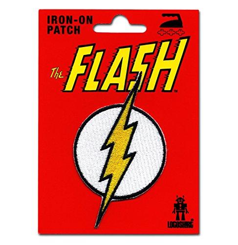 Flash Logo Aufnäher - DC Comics Patch - Superheld Aufbügler - Lizenziertes Originaldesign - LOGOSHIRT (Authentischen Superhelden Kostüme)