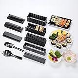 Sushi fabricante de Kit, 11pcs AGPtek DIY que hace sushi Sushi Roll Kit arrocera rodillo de molde sashimi cuchillo de cocina de bricolaje fácil de utilizar