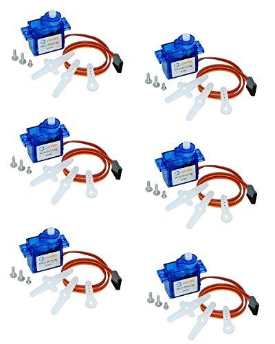 6 x Servo für Arduino, Raspberry PI und Drohnen, SG90, 9g, Servomotor schneller Versand aus Deutschland (Sg90 Servo)