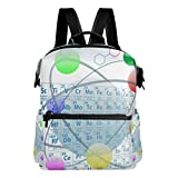 COOSUN Atomic Elements Periodic Table Chemistry Design School Rucksack Travel Backpack