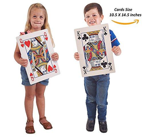 Jumbo Spielkarten, volles Deck riesiger Pokerkarten - Spielspaß für alle Altersgruppen! - Größe 26,5cm x 37cm