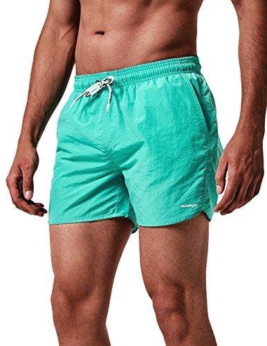 MaaMgic Shorts de Corte Slim Hombre Bañador de Natación Secado Rápido Forro de Malla Trajes de Baño...