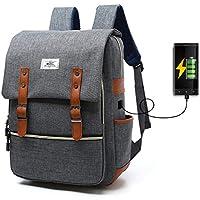 Sac à dos Ordinateur Portable, Tezoo Imperméable Super léger 30L Backpack avec Prise USB pour École Étudiant Homme Femme Business - Gris
