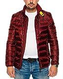 Husaria Designer Übergangsjacke Jacke gesteppt Steppjacke Windjacke Sweatjacke Frühling Herbst 807-5 (S, Bordeaux)
