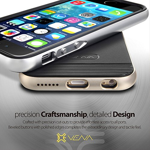 Vena Apple iPhone 6 Hülle vFrame (Aluminium, Ultra-schlank, Hybrid) Bumper TPU Schutzhülle für Apple iPhone 6 (11.94 cm) Gunmetal