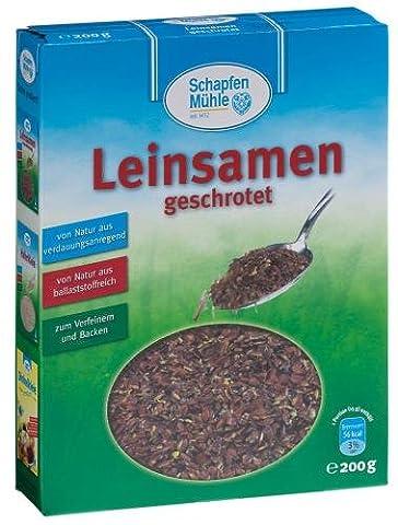 SchapfenMühle Leinsamen geschrotet, 11er Pack (11 x 200 g Packung) (Leinsamen Geschrotet)
