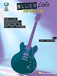 Blues Licks You Can Use: Softcover with Online Audio (Guitar Educational) by John Ganapes (2008-01-18)