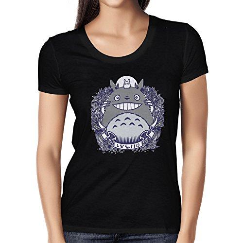 NERDO - Nachbarn - Damen T-Shirt, Größe M, schwarz