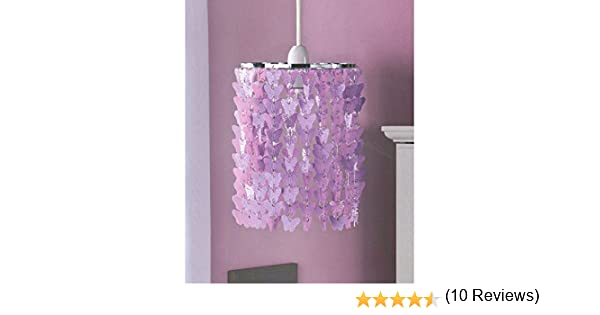 Girls bedroom pendant light fitting butterfly chandelier purple girls bedroom pendant light fitting butterfly chandelier purple amazon kitchen home mozeypictures Image collections