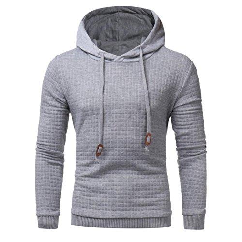 IMJONO Mens 'Long Sleeve Hoodie mit Kapuze Sweatshirt Tops Jacke Mantel Outwear (EU-52/CN-3XL,Grau)
