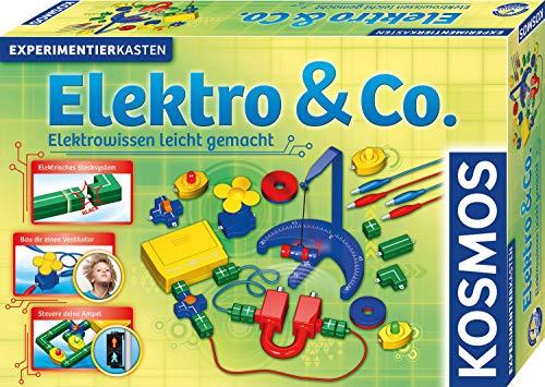 KOSMOS 620417 Elektro & Co. Elektrowissen leicht gemacht, Experimente zu Stromkreis, Ampel, Ventilator etc. Einstieg in Elektrizität und Magnetismus, Experimentierkasten für Kinder ab 8 - 11 Jahre