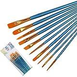 JK Multifunktional Nylon Pinsel, 10PCS Professional Art Supplies für Watercolor Öl Acryl Gemälde