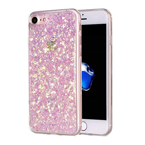 Bling Glitter Powder Soft TPU Schutzhülle für iPhone 7 by diebelleu ( Color : Pink ) Pink