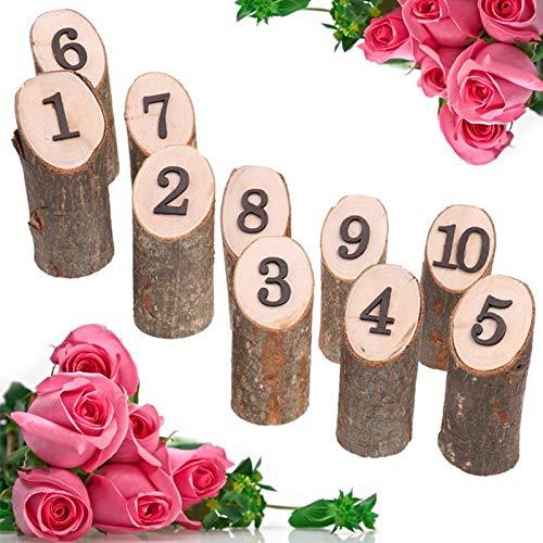 Hochzeit Original Baum Stück,1-10 digitale Tischnummer Ornament Dekoration,für DIY Hochzeit Graduierung Geburtstag Bankett Dinner-Partys,Hochzeitsdekorationen für Tabellen (Gelb) ()