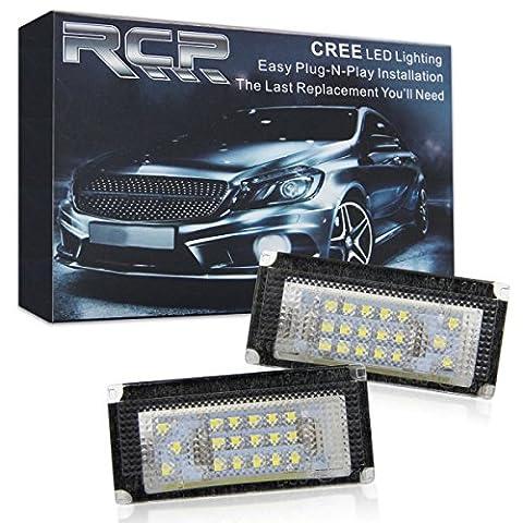 Win Power LED licence Assemblage de lampe de plaque d'immatriculation Xenon Blanc lamps ampoule, Lot de 2