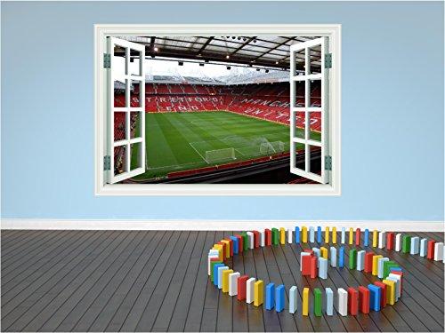 Red Parrot Grafiken Manchester United Old Trafford Stadion Fußball Aufkleber Fenster Transfer P1L, X Small 15cm x 10cm