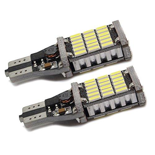 Preisvergleich Produktbild XFAY HX-464(2 Stückx Superhelle) , T15 921 912 W16W Auto Lampen LED 45-SMD 4014 LED Birnen Backup Licht Rückfahrlicht Xenon-Gelbes Licht