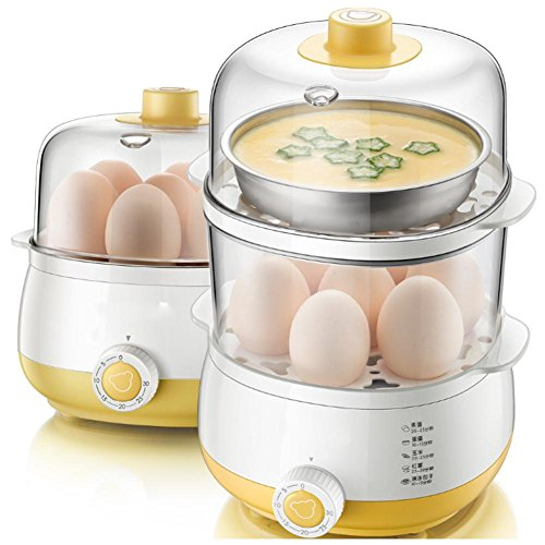 Eier Töpfe 1-6 Eier, doppelte Zeit gelb , Yellow