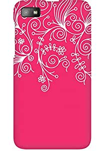 AMEZ designer printed 3d premium high quality back case cover for Blackberry Z10 (neon pink white design pattern abstract)