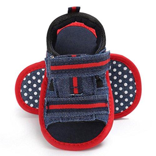 Clode® Neugeborene Säugling Baby Mädchen Jungen Sommer Soft Sole Kleinkind Anti-Rutsch Schuhe Sandalen Rot