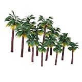 NUOLUX Layout Rainforest Plastic Palm Tree Diorama Scenery 12pcs