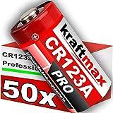 50er Pack CR123 / CR123A Lithium Hochleistungs- Batterie für professionelle Anwendungen - Neueste Generation