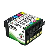 GREENSKY 5 confeziones Cartuccia Compatibile Sostitutiva per Epson 29 29XL per Epson Expression Home XP-235 XP-432 XP-332 XP-335 XP-245 XP-435 XP-342 XP-442 XP-247 XP-345 XP-445 stampante - (2 Nero, 1 Ciano, 1 Magenta, 1 Giallo)