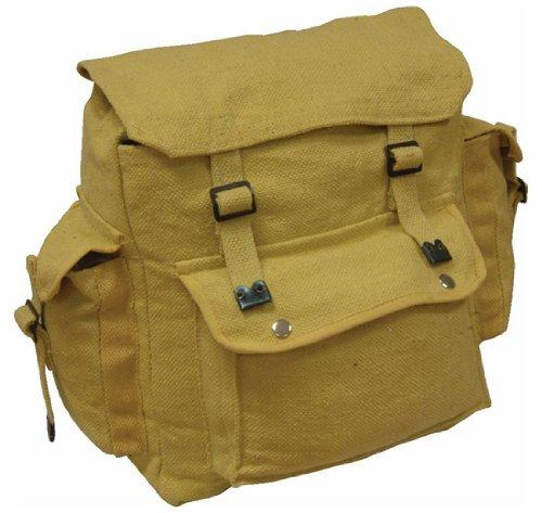 Zip Zap Zooom - Zaino militare da uomo, in stile combattimento, per backpackers, borsa a spalla con spallacci, in tela di cotone nero - nero