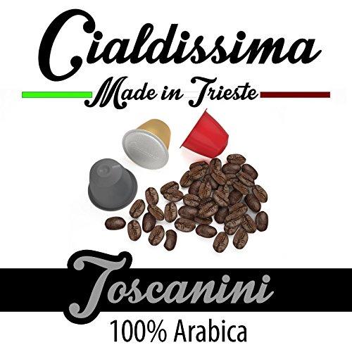 """cialdissima 100 Kapseln Nespresso Kompatibel, Toscanini, 100{67e6cb9435179b6c6795facca105d85b5c52b96674e9427327d06ed094d13ad1} Arabica, Espresso Italiano - \""""Le Arabiche\"""""""