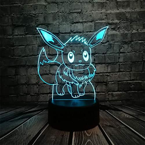 Luce Notturna Txxzn Pokemon Azione Figura 3d Lampada Rgb Pikachu Tartaruga Fuoco Fuoco Drago Pokeball Ball Bulbasaur Bay Ruolo Regalo Luce Notturna Led Stile 6