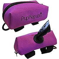 PupRepublic Soporte para bolsa de perro para guardar la correa, dispensador de bolsas de basura