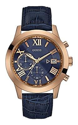 Guess hombre-reloj cronógrafo de cuarzo cuero W0669G2 de Guess