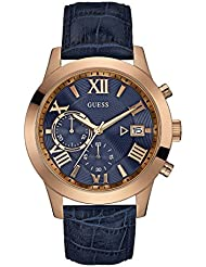 Guess Herren-Armbanduhr Chronograph Quarz Leder W0669G2