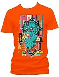 Owl prayer Cooles Party Herren Shirt