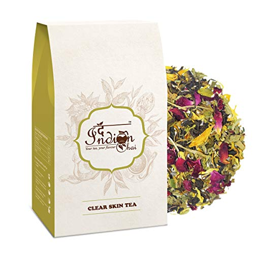 The Indian Chai - Clear Skin Tea 50g with Rose, Chamomile, Lavender Sage for Skin Glow, Natural Beauty Enhancer Herbal Tea