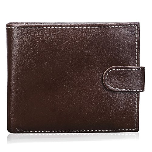 CERVO MENS DESIGNER QUALITY REAL LEATHER MENS WALLET CREDIT CARD HOLDER PURSE GIFT  available at amazon for Rs.175