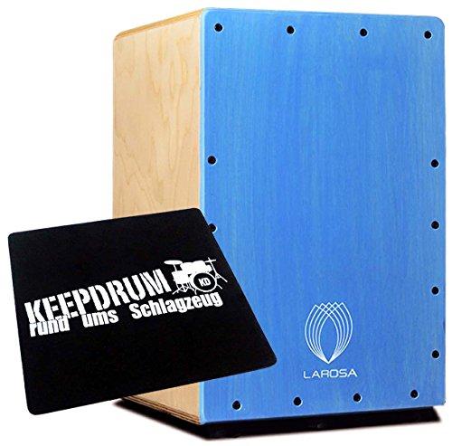 La Rosa Basic Junior blue cajón + Keepdrum sitzpad