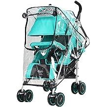 leadway Universal funda impermeable para bebé cochecito de lluvia paraguas cochecito viento polvo Escudo cover para carritos