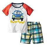 Yilaku Conjuntos de Ropa de bebé, 1-6 años Recién Nacido, Tops de Dibujos Animados Infantiles, Camiseta, Pantalones Cortos, Conjuntos de Trajes