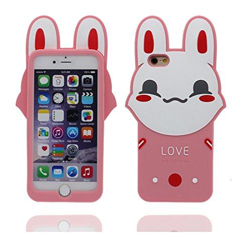 """iPhone 6 (4.7"""") Coque, [Lucky Cat, chat TPU durable et flexible] couverture étui pour iPhone 6s, iPhone 6 (4.7"""") Case, anti-chocs, des empreintes digitales, les égratignures Rose 1"""