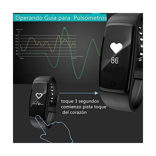 Willful Impermeable Pulsera Inteligente Pulsera Actividad con Pulsometros,Monitor de Dormir,Monitor de Calorías… 3