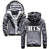 Aivosen BTS mit Reißverschluss Hoodies Freizeit Outerwear Bedrucken Locker Jugendliche Lässige Oberteil Top Sport Outerwear für Männer und Frauen