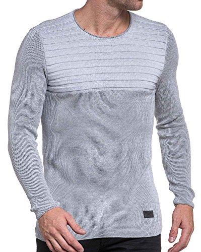 BLZ jeans - Pullover engen grauen Mann vereint mit den Rippen Grau