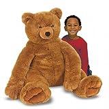 Best Melissa & Doug Teddy Bears - Jouet Ours en peluche géant Enorme peluche 76 Review