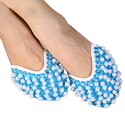 Calcifer Marke New Bauch/Ballet Dance Schuhe Kostüm Geschenk für Big Party Weihnachten, Himmelblau