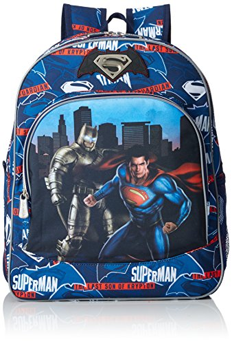 Batman & Superman Heroes F5/AC Mochila, Color Azul