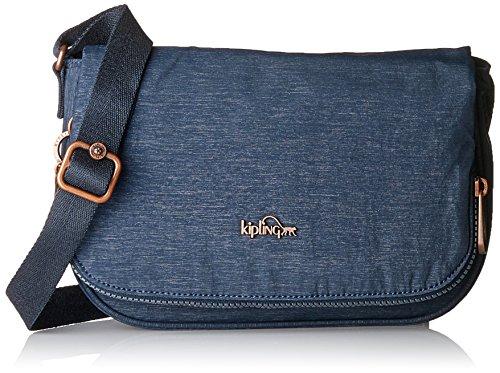 Schnalle Baguette-handtasche (Kipling Damen EARTHBEAT S Umhängetasche, Blau (SPARK Navy), 26x17x7 cm)