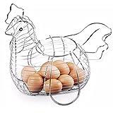 VIVA HOME Vivahome - Huevera de gallina metálica