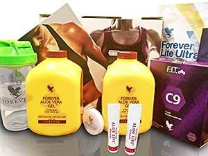 Clean 9 FIT New Forever Living Aloe Vera régime et poids plan de perte qui est conçu pour vous aider à perdre du poids dans un manoir plus sain et le garder éteint coup démarrer la santé vous. (Cette offre a deux deux Aloe baumes gratuit)