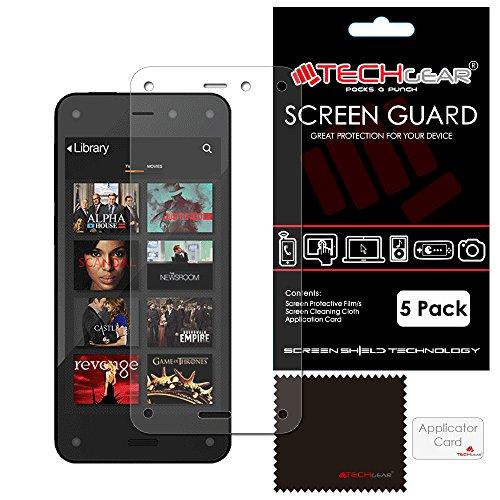 TECHGEAR Hochwertige Displayschutzfolie für Amazon Fire Phone, durchsichtig, 5 Stück